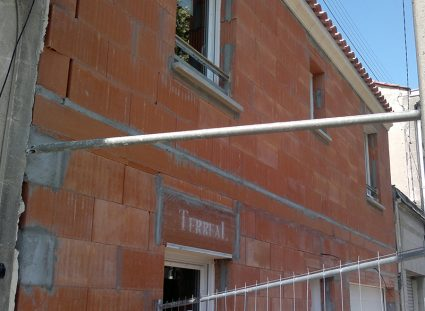 maison de ville bordelaise élévation murs