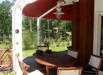salle à manger à l'extérieur détente