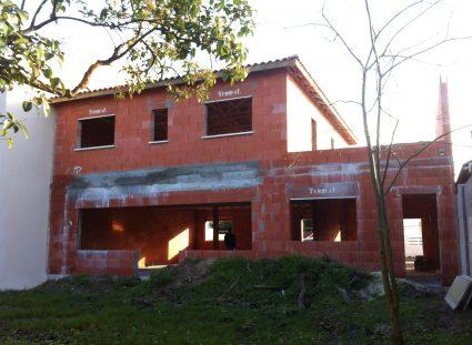 maison neuve a étage finitions murs