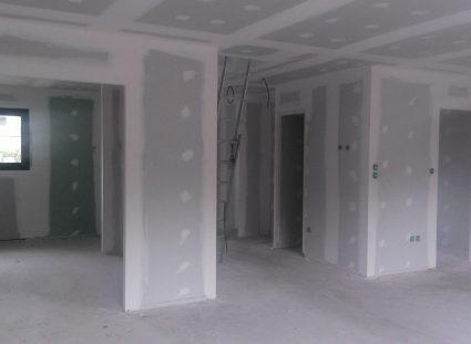 maison neuve a étage plâtrerie