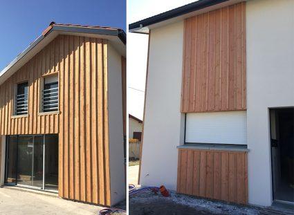 maison neuve au bassin arcachon installation bardage bois