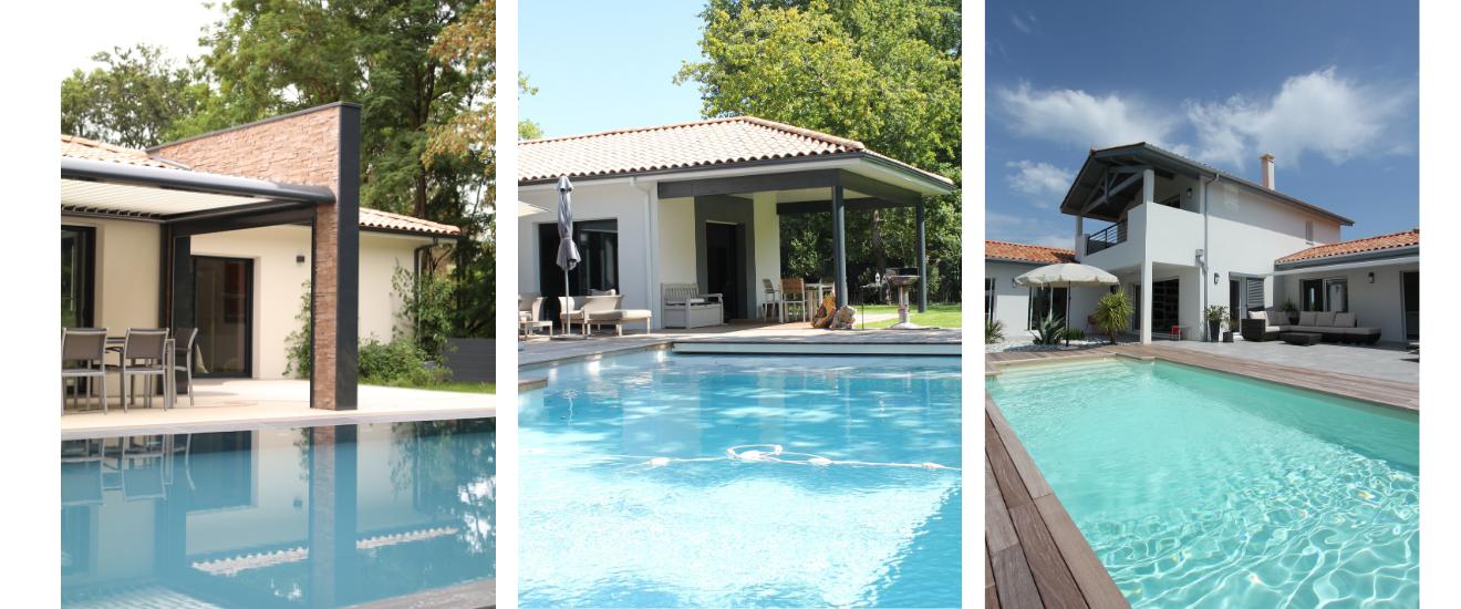 maison neuves avec piscines