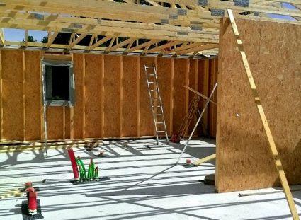 maison ossature bois bassin Arcachon élévation des murs