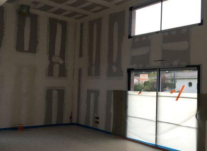 maison spacieuse fin plâtrerie