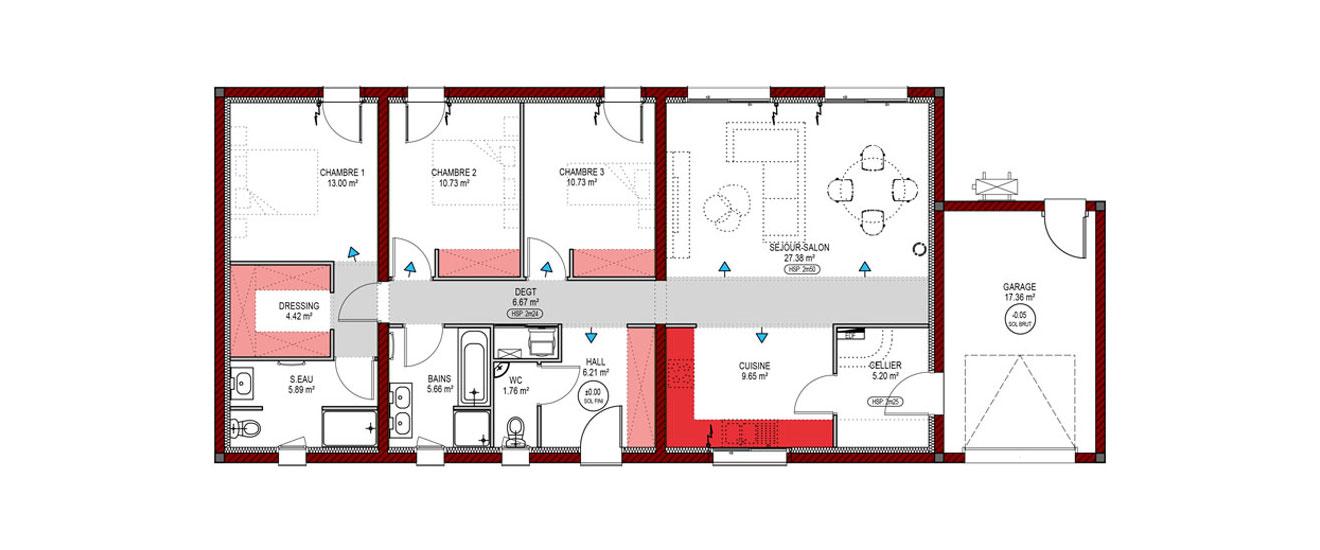 Un Plan De Maison En Longueur Skiathos Quel Constructeur Choisir
