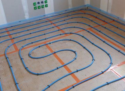 plancher hydraulique chauffant