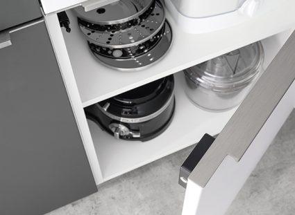 cuisine avec système avec fermeture magnétique