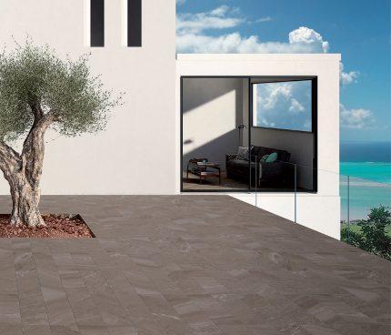 terrasse avec dalles sur plots