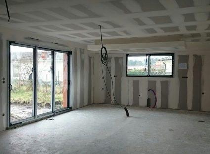 maison contemporaine- plâtrerie