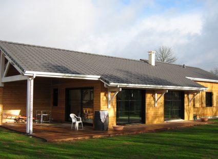une maison ossature bois en Aveyron 140m
