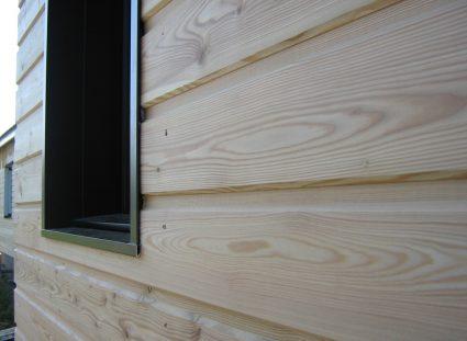 une maison ossature bois en Aveyron pose horizontale