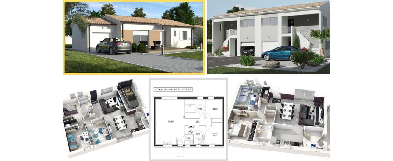 les modèles de maisons ECG