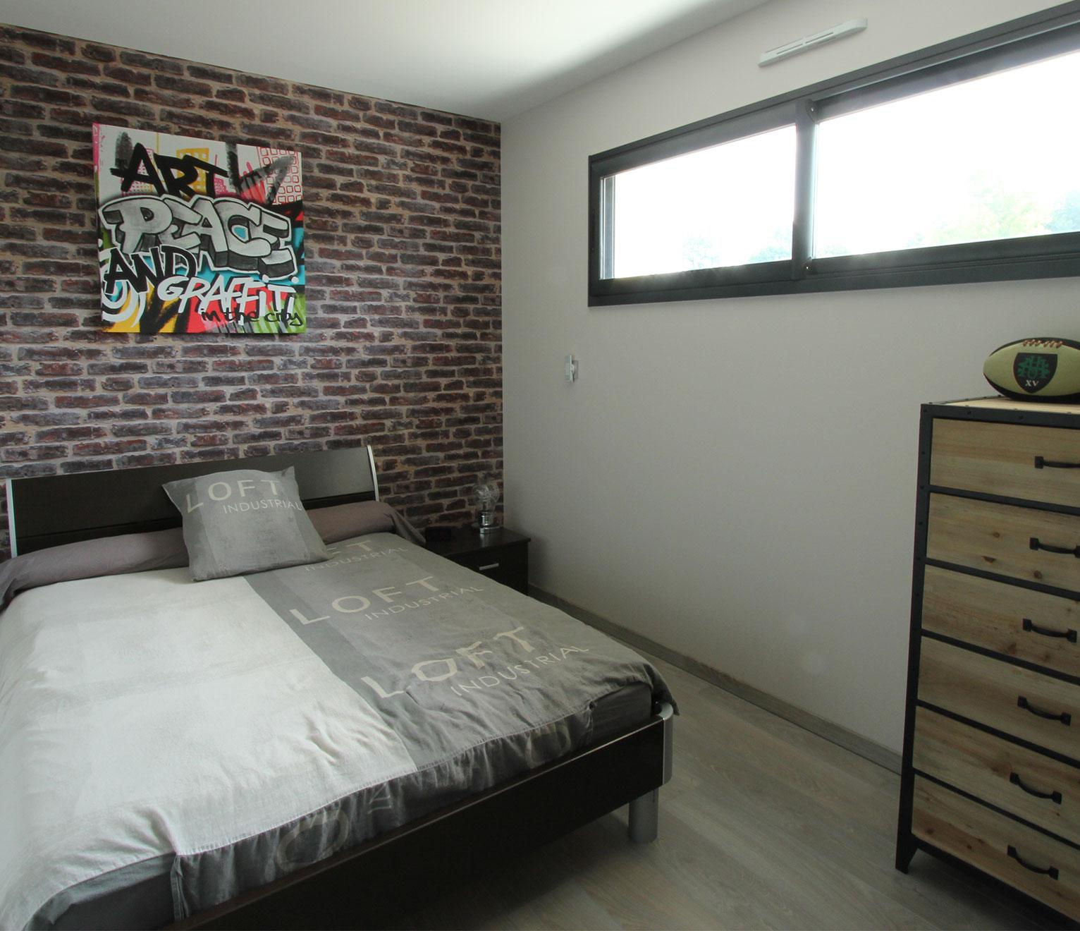 Chambre Ado Avec Papier Peint Brique une chambre d'ado aux airs de loft new-yorkais - quel