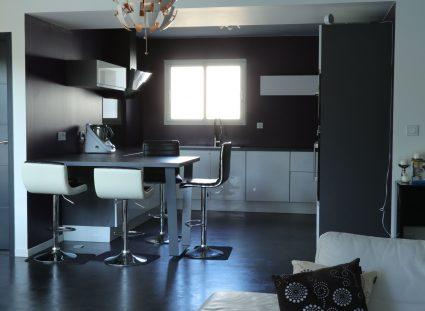 maison contemporaine avec cuisine moderne