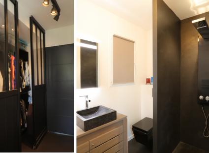 maison contemporaine avec dressing et salle d'eau