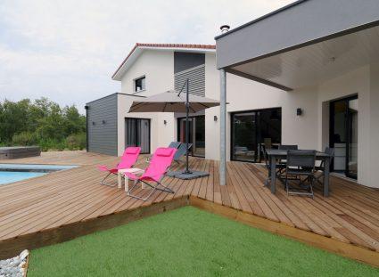 belle maison landaise grande terrasse