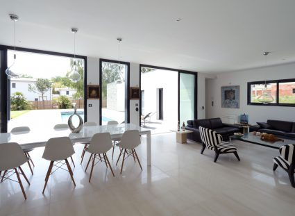 villa contemporaine bordeaux pièce de vie