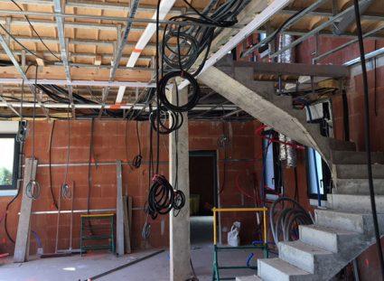 chantier d'une maison à étage