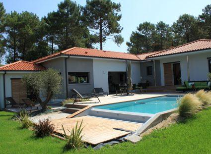 gaia maison contemporaine piscine