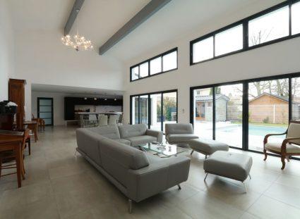 hauteur sous plafond avec impostes vitrées