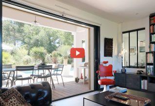 jolie maison plain pied dans les landes en vidéo