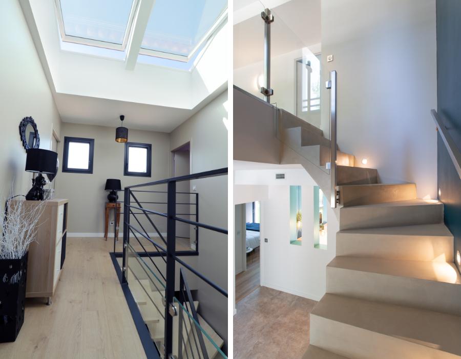 lumière dans les escaliers