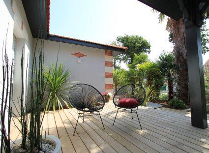 maison arcachon contemporaine belle terrasse en bois