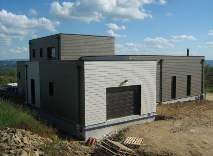 maison bois avec toit terrasse