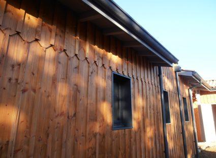 maison bois avec détails