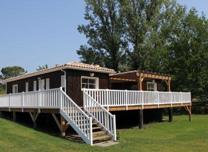 maison bois au bassin d'arcachon