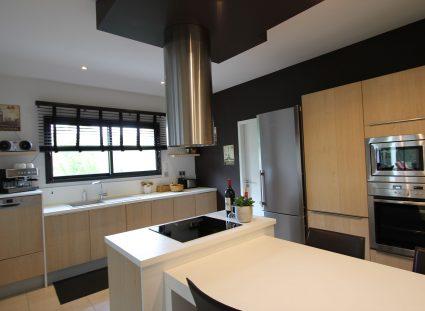 maison contemporaine grande cuisine moderne