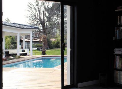 maison contemporaine prestige baies vitrées galandage