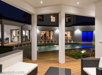 maison contemporaine prestige extérieur convivial