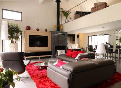 maison contemporaine avec grande pièce de vie