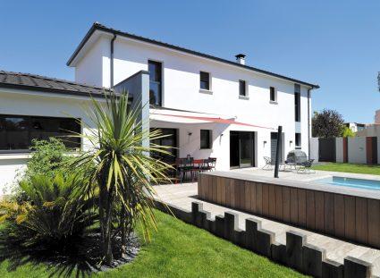 maison contemporaine façade arriere
