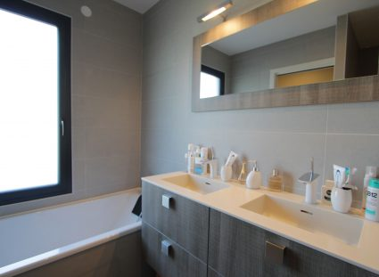 maison de ville élégante urbaine salle de bain moderne