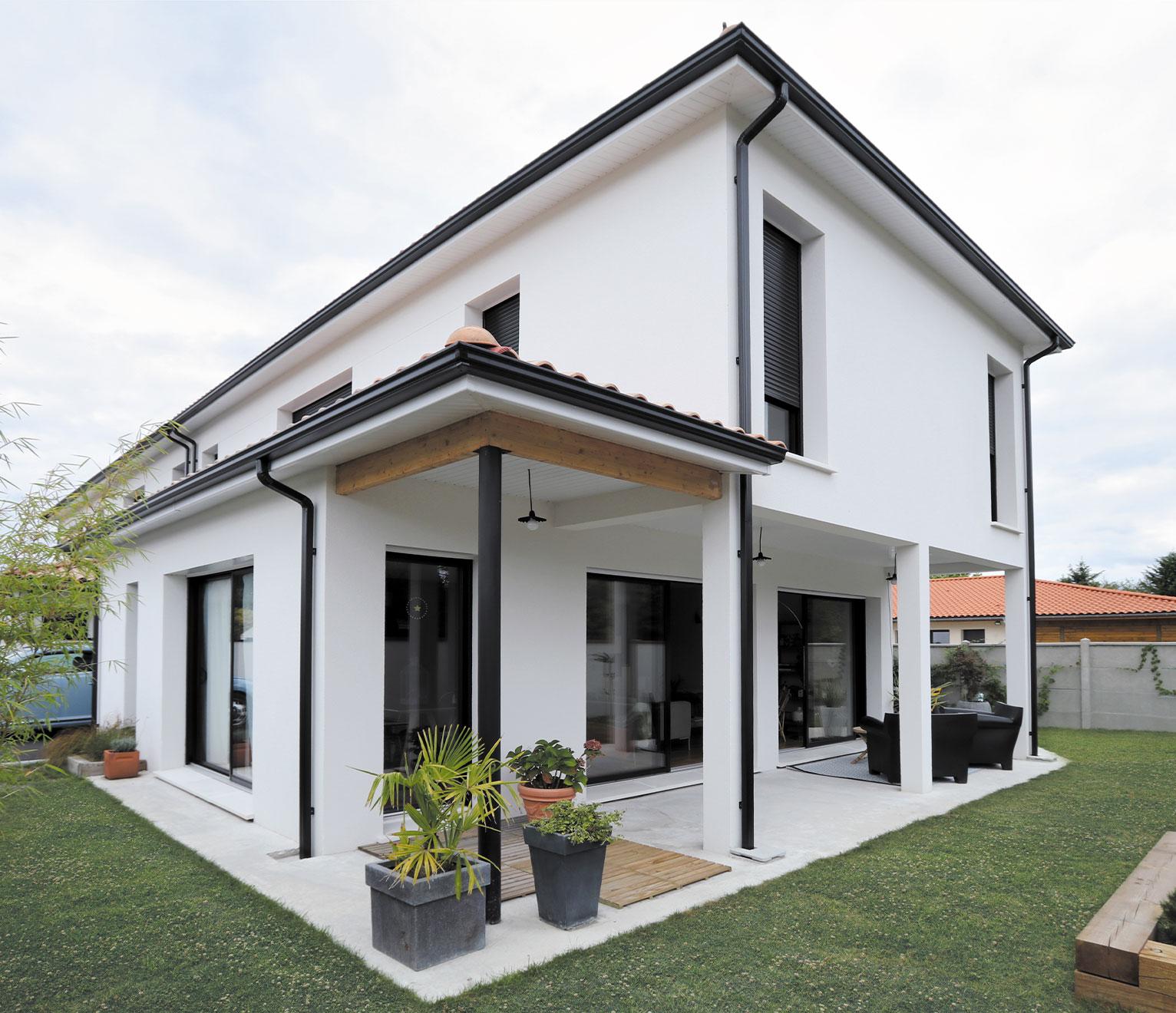 une maison de ville familiale et moderne