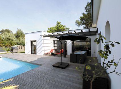 maison design avec terrasse