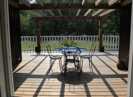 maison ossature bois grande terrasse