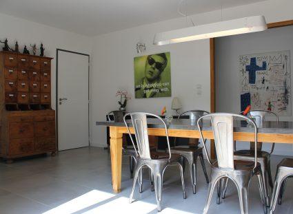maison ossature bois avec salle a manger