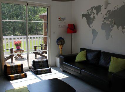 maison ossature bois salon