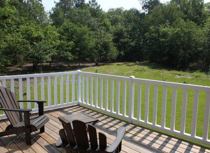 maison ossature bois vue sur le jardin