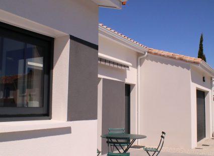 maison rétaise contemporaine terrasse