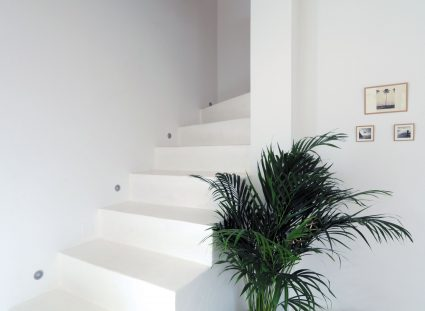 maison basque escalier blanc