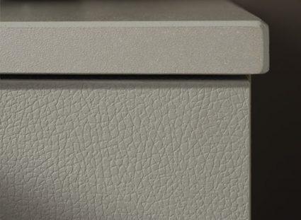 meuble salle de bain halo finitions cuir