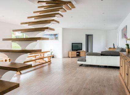 maison contemporaine avec grand séjour