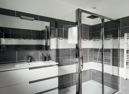maison contemporaine avec salle de bain design