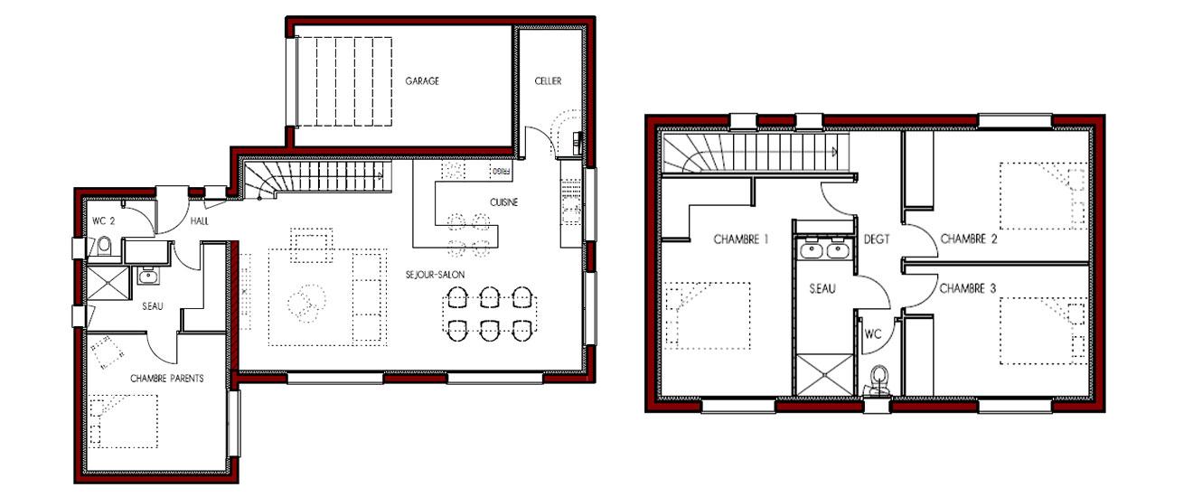 plan à étage confort acoustique