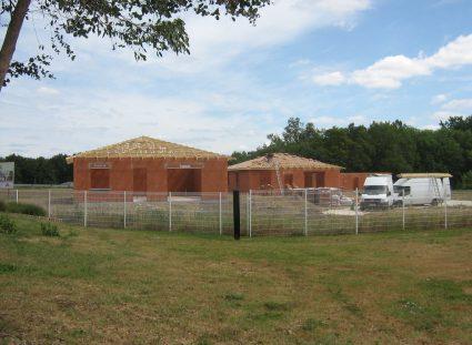 trois maisons expérimentales élévations murs