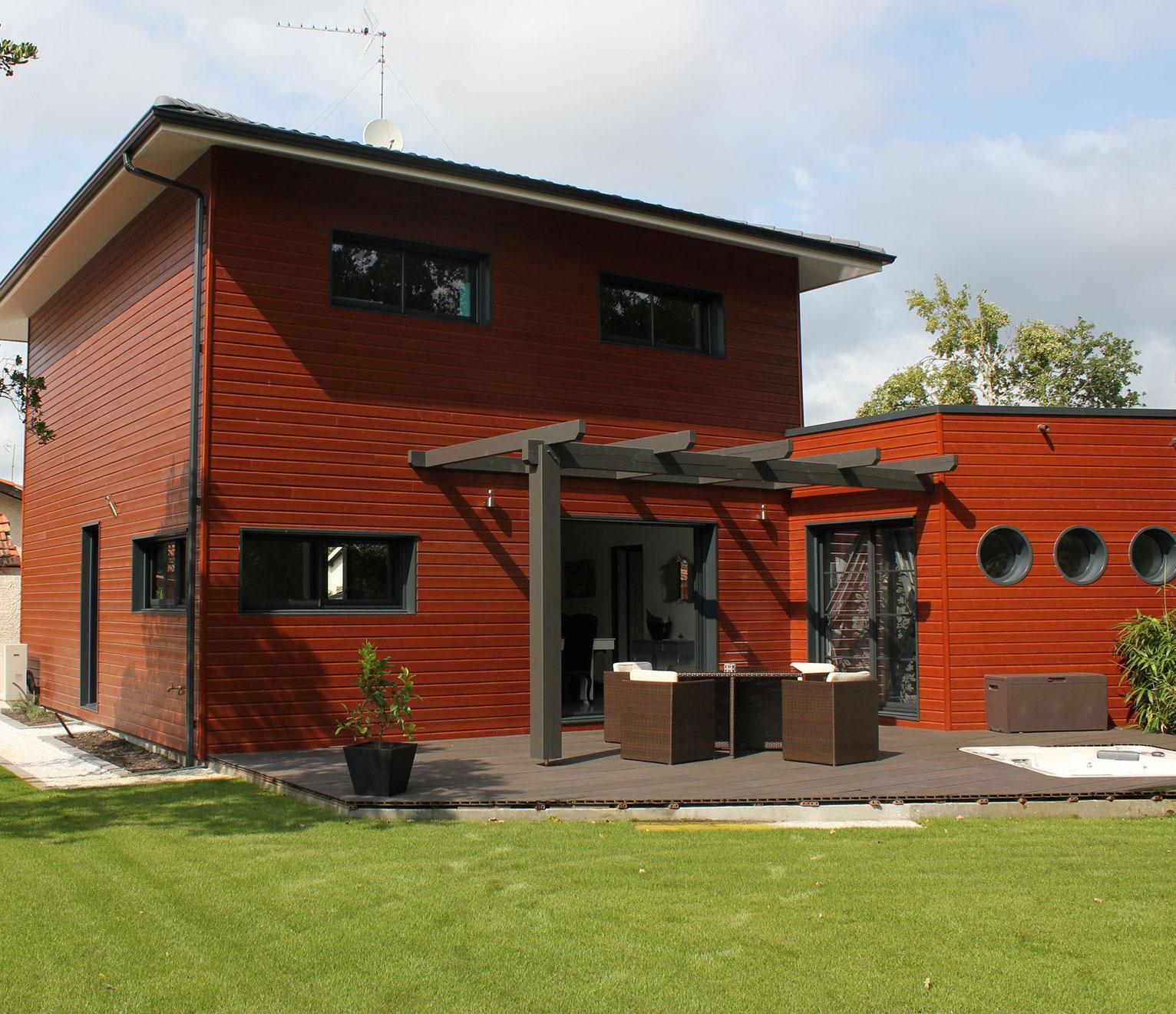 la villa contemporaine bois igc